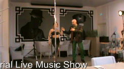 Aerial live music show